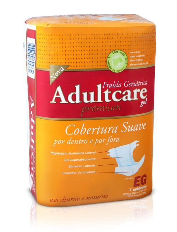 Adultcare Premium EG - Fralda geriátrica tradicional - Pacote com 7 unidades