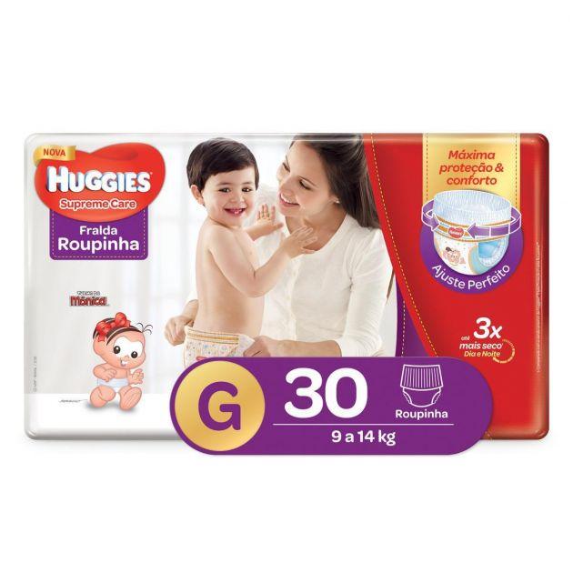 Fralda Huggies Supreme Care Roupinha G - 30 Unidades