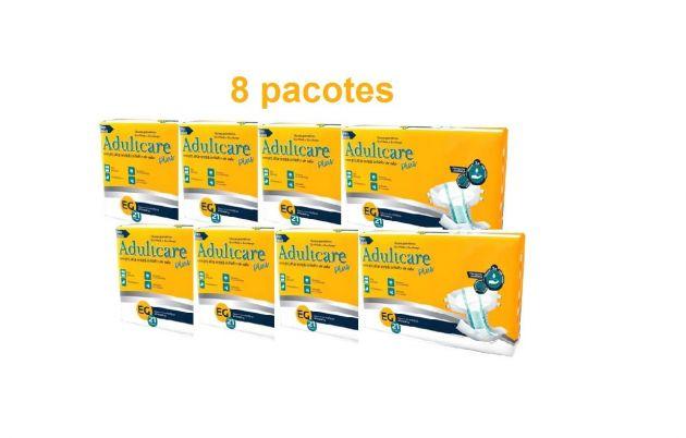 Kit Adultcare Plus Mega EG - 8 pacotes - 168 unidades