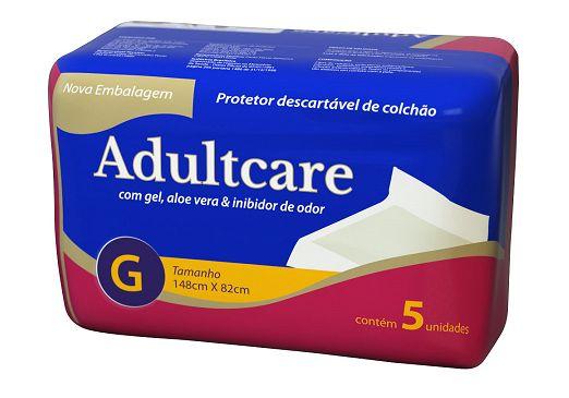 Protetor de Colchão Descartável Adultcare G - 148 cm X 82 cm