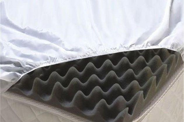 Protetor Siliconado para Colchão Caixa de Ovo Solteiro - Senior - 190 cm X 90 cm X 6 cm