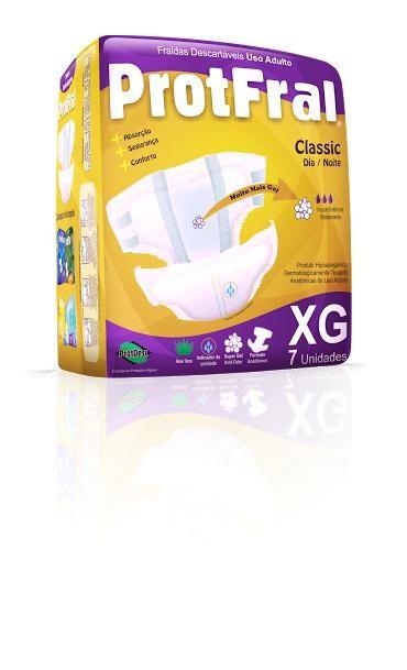Protfral Classic XG - Fralda geriátrica tradicional - Pacote com 8 unidades