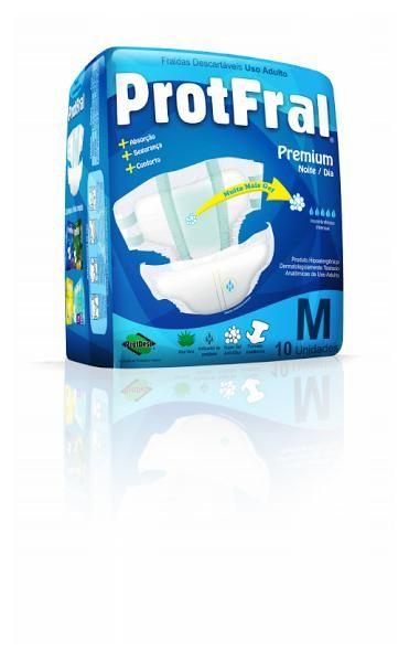 Protfral Premium M - Fralda geriátrica tradicional - Pacote com 10 unidades