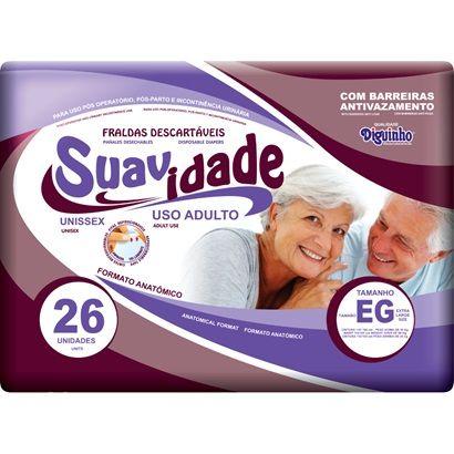 Suavidade Mega EG - Diguinho - Fralda geriátrica tradicional - Pacote com 26 unidades