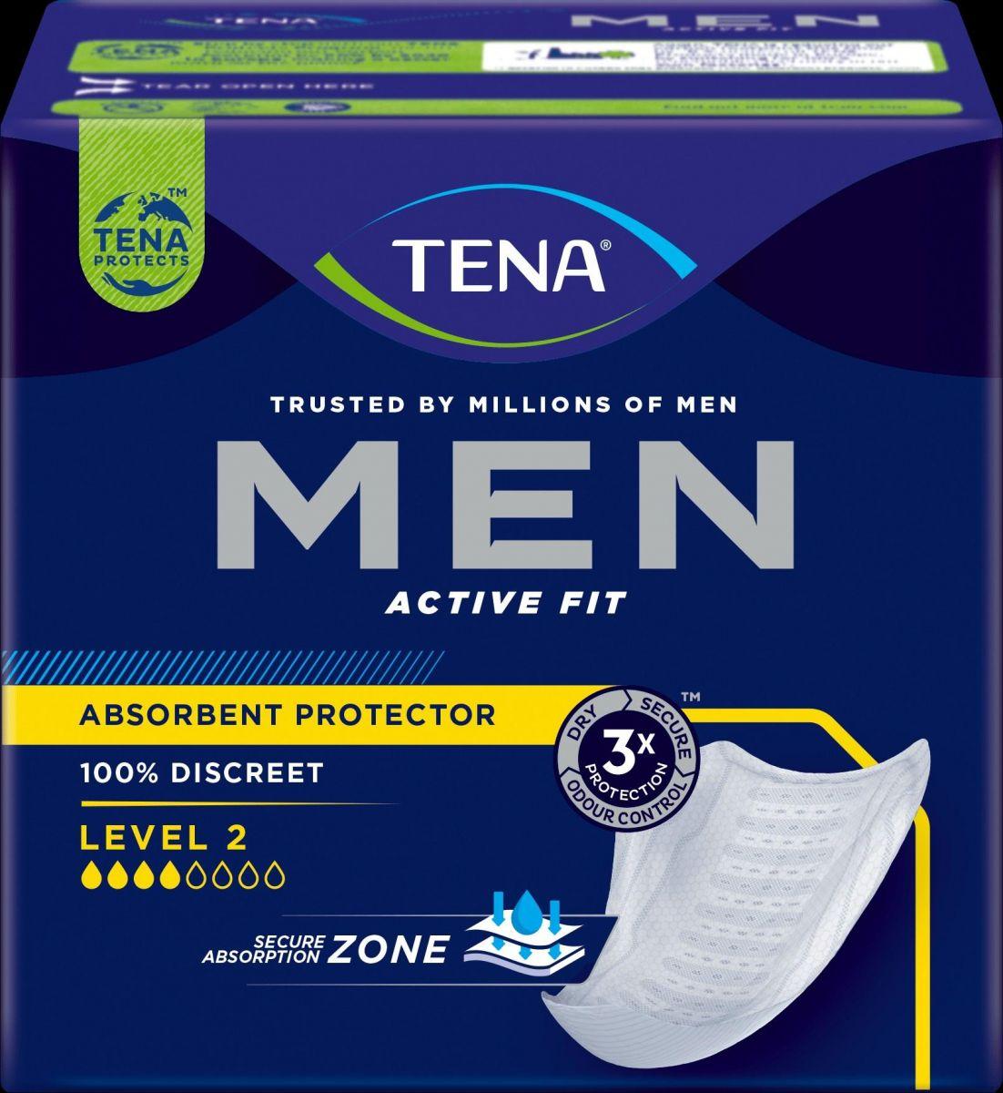 Tena Men - Absorvente Masculino - Pacote com 10 unidades - Tena
