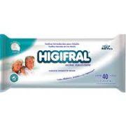 Toalha Umedecida Higifral - Pacote com 40 unidades - 25 cm X 20 cm