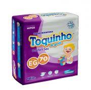 Toquinho Confort Sec EG - Fralda infantil - Pacote com 70 unidades